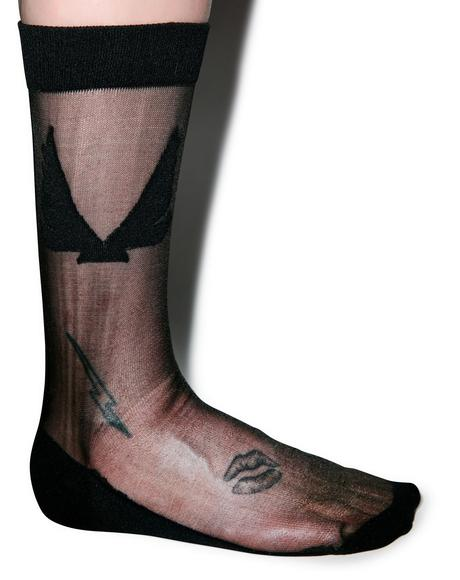 X Minimale Animale Firebird Socks