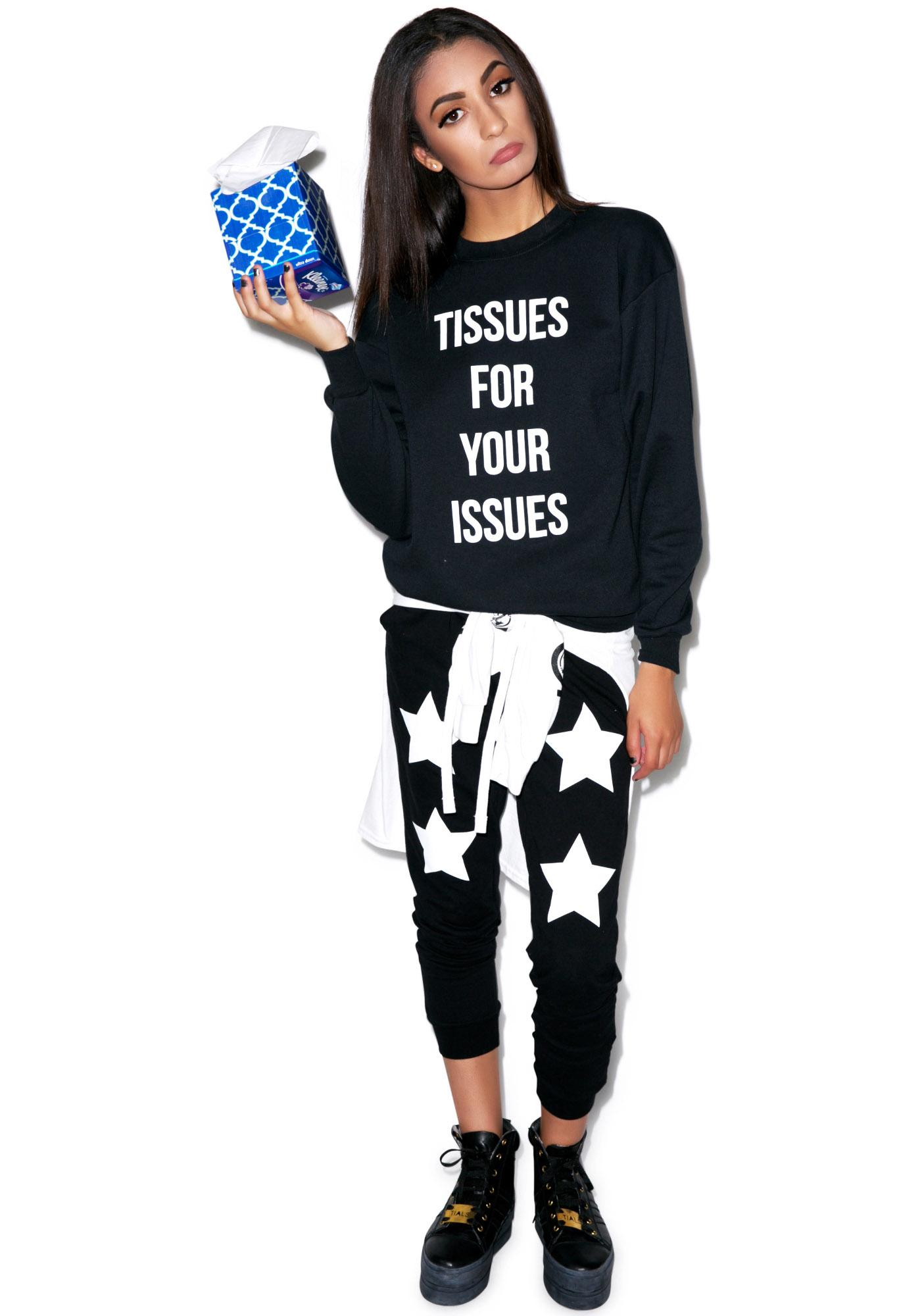 Petals and Peacocks Tissues Sweatshirt
