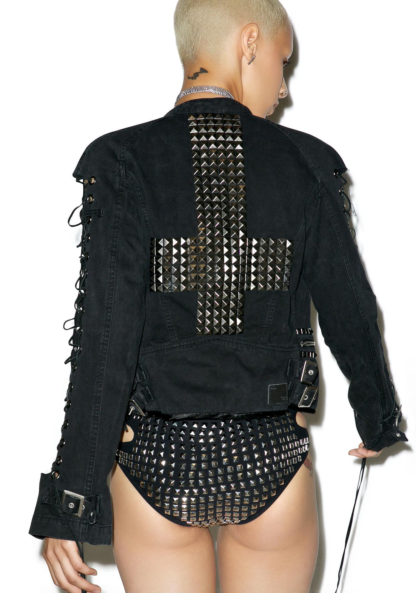 Hazmat Design Friend Of The Devil Moto Jacket