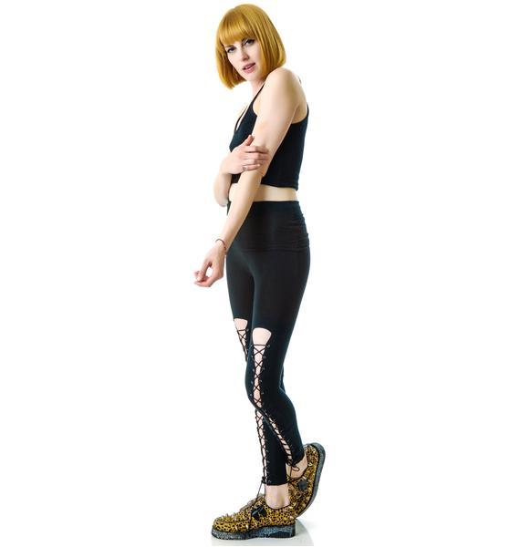 HLZBLZ  x Belle of the Brawl Bondage Leggings