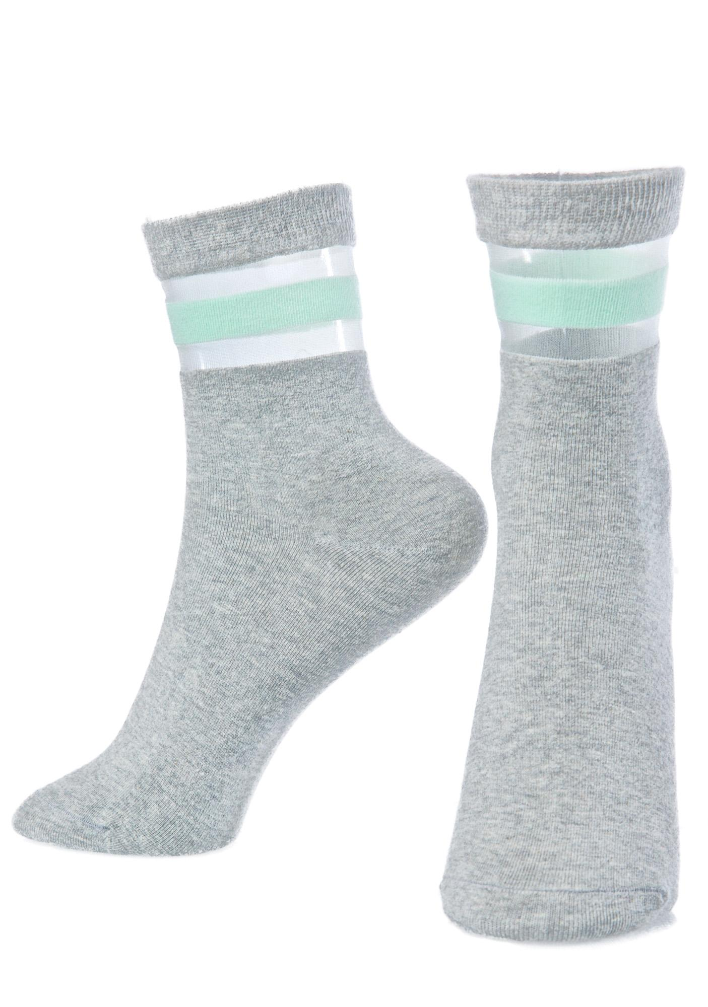 Get Physical Mint Socks