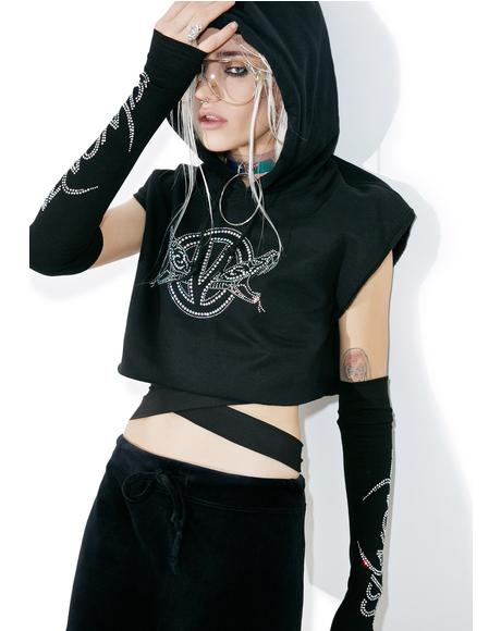 Double Trouble Cropped Hoodie