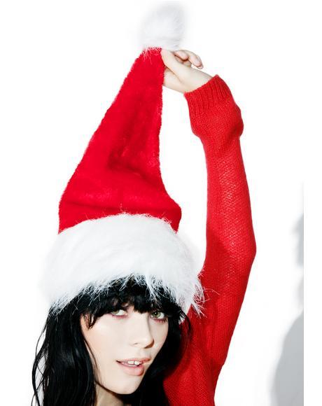 Velvet Santa Hat