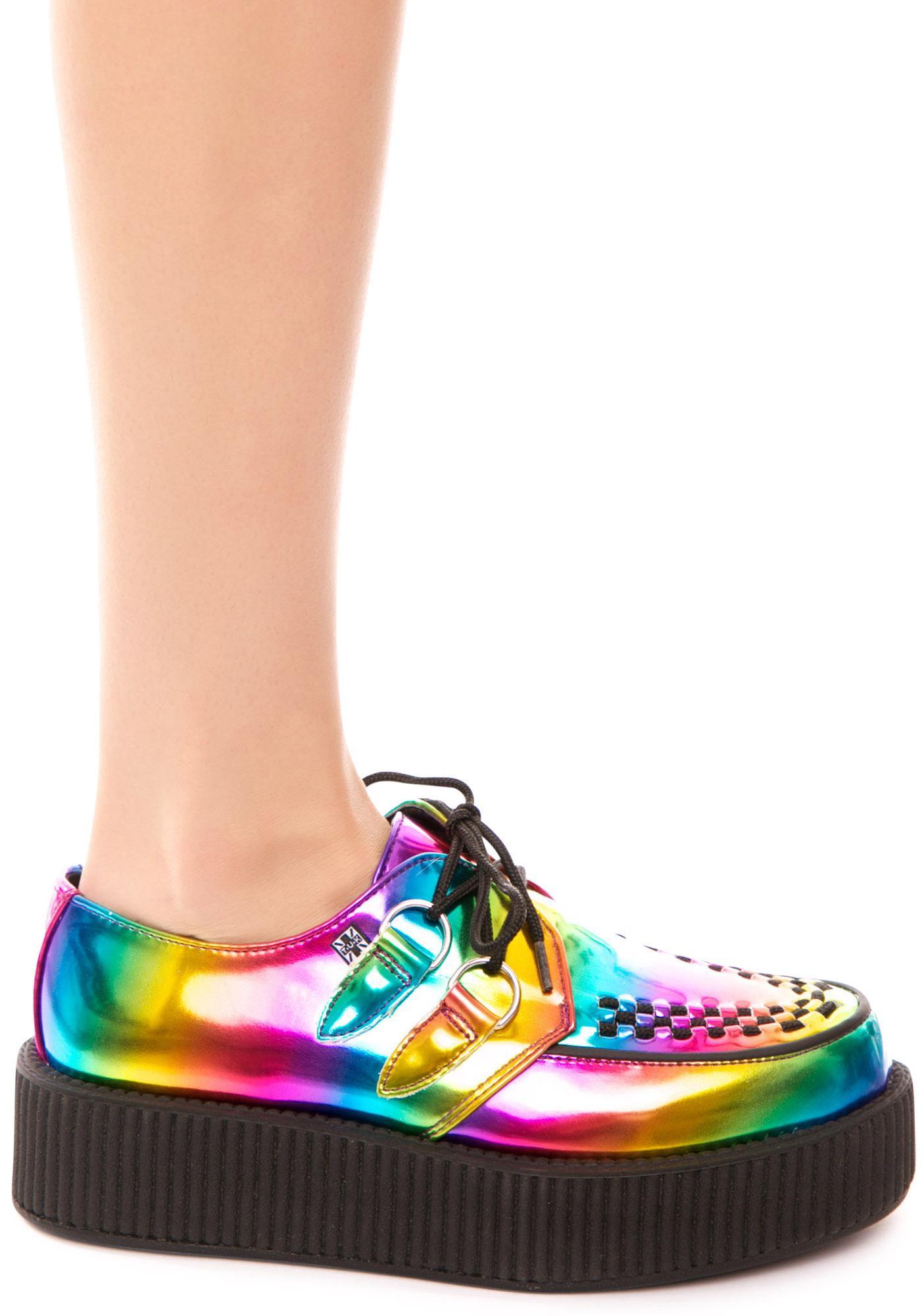 T.U.K. Rainbow Metallic Viva Mondo Creeper