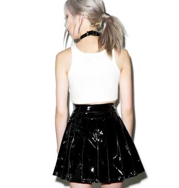 Lip Service Vinyl Vixen Pleated Skirt