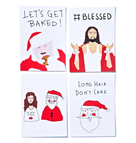 I'm With Stupid Christmas Card