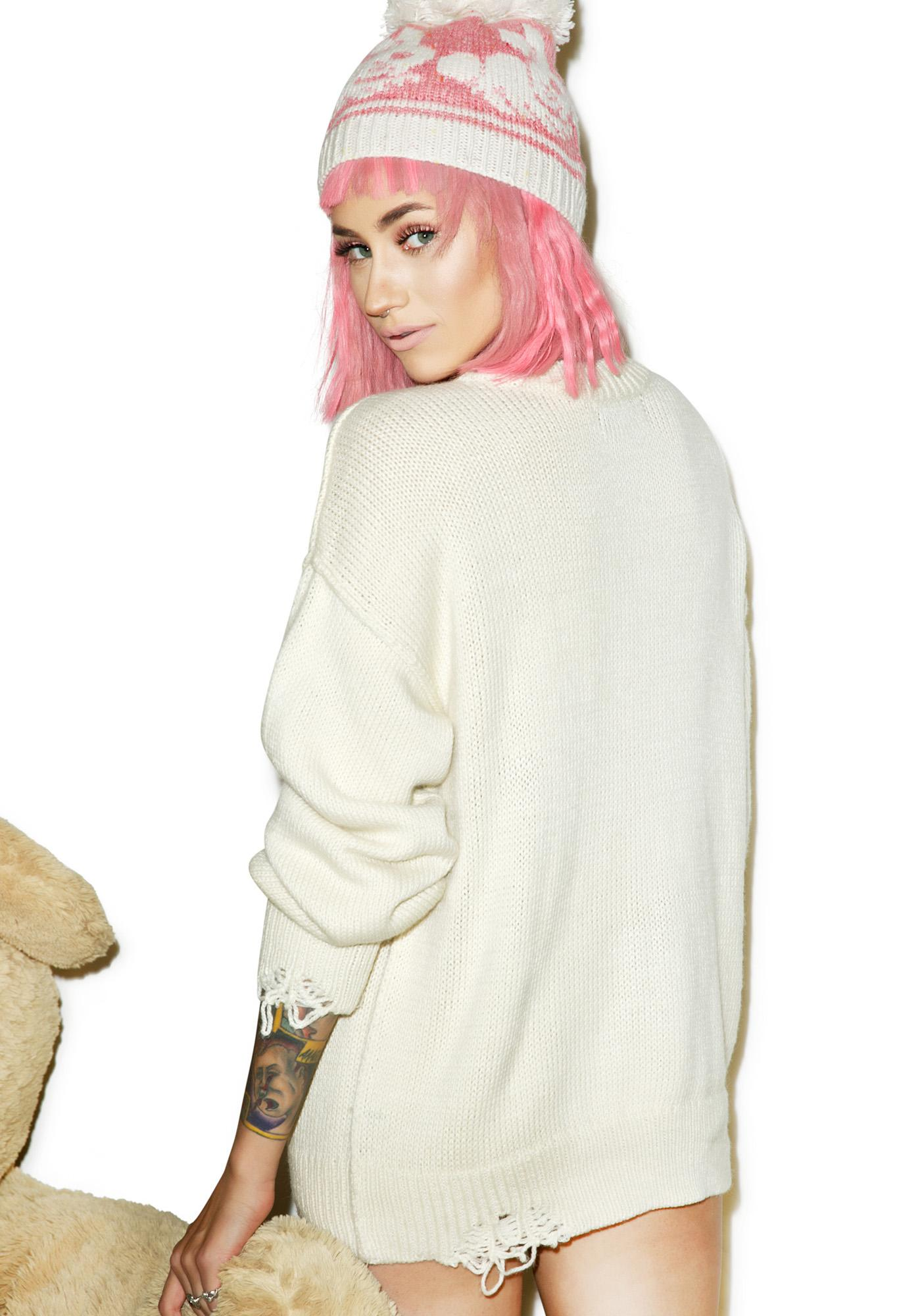 Wildfox Couture Let's Stay Home Overnight Sweater