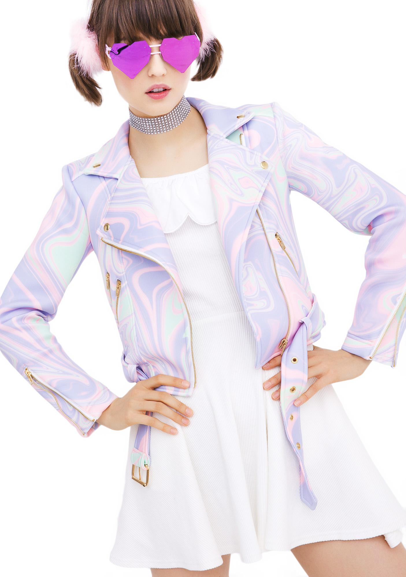 Sugarpills Melt Neoprene Moto Jacket