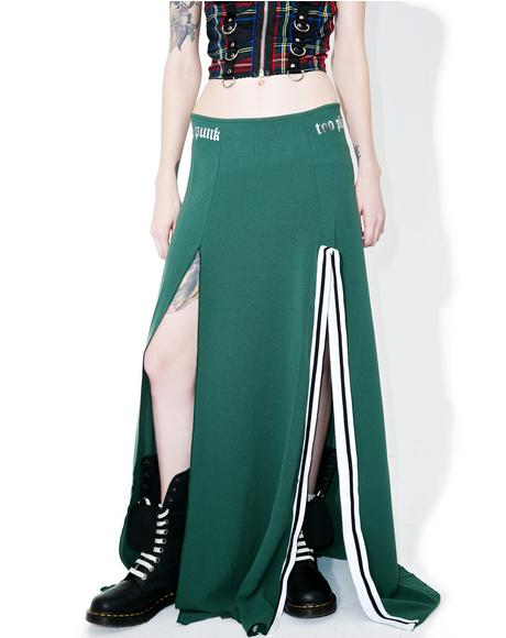 Too Punk To Play Maxi Skirt