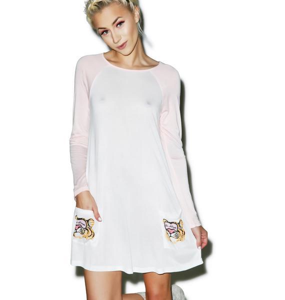 Mink Pink Do Not Disturb Long Sleeve T-Shirt Nightie