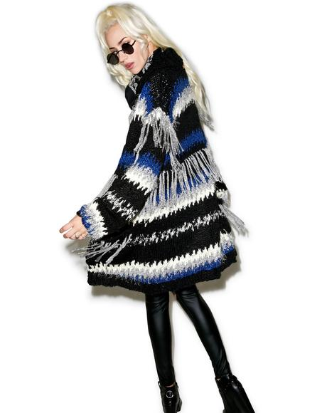 Black 'N Blue Crosby Fringe Cardigan