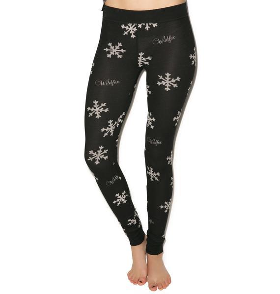 Wildfox Couture Snowflake Ski Bunny Pajama Set
