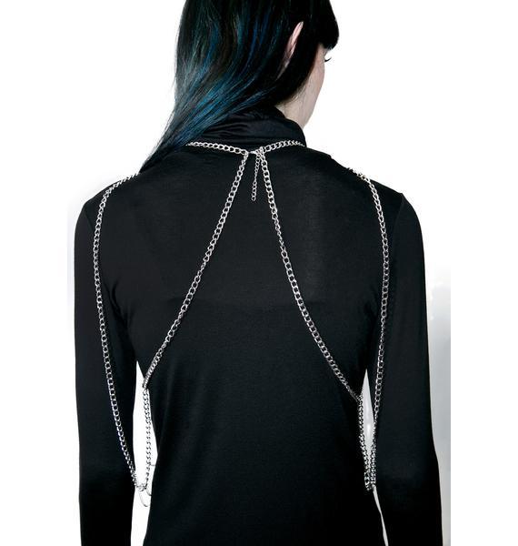 Aria Rhinestone Body Chain