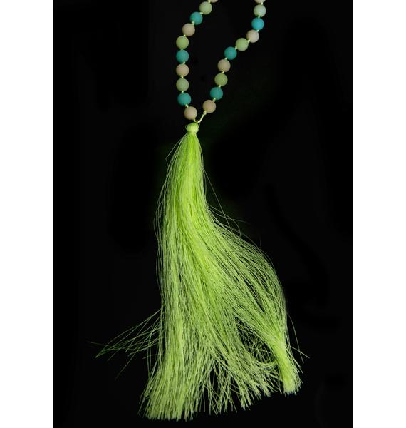 Glow-Up Tassel Necklace