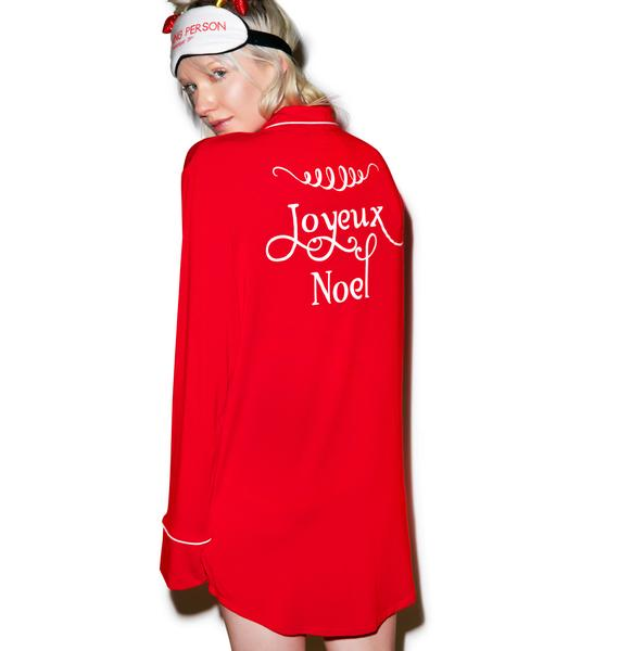 Wildfox Couture Joyeux Noel Dreamer Sleepshirt