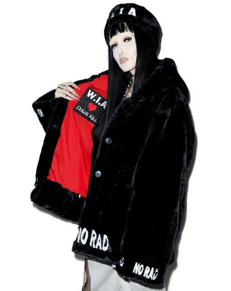 X Dolls Kill Fake And Fur Coat