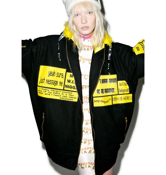 W.I.A Patches Hoodie Bomber