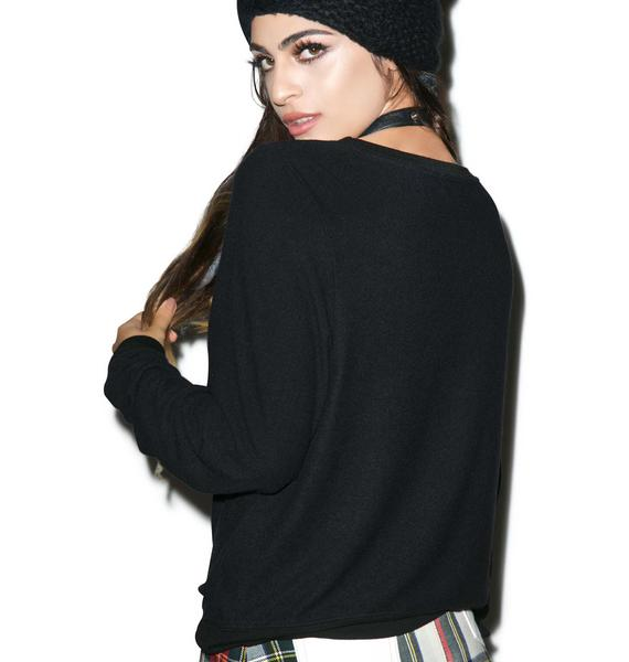 Wildfox Couture Full Stomach Baggy Beach Jumper