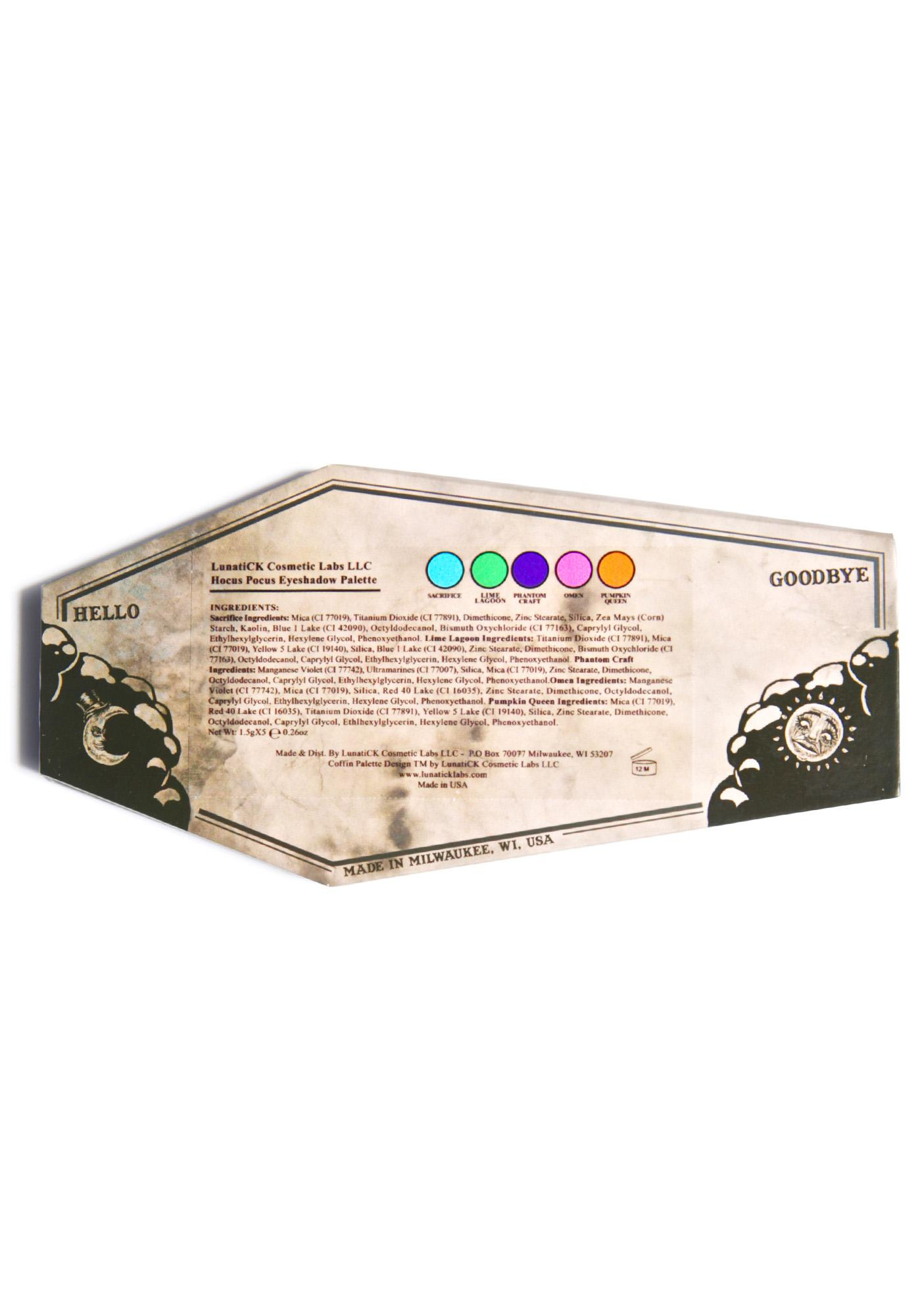 Lunatick Cosmetic Labs Hocus Pocus Coffin Eye Shadow Palette