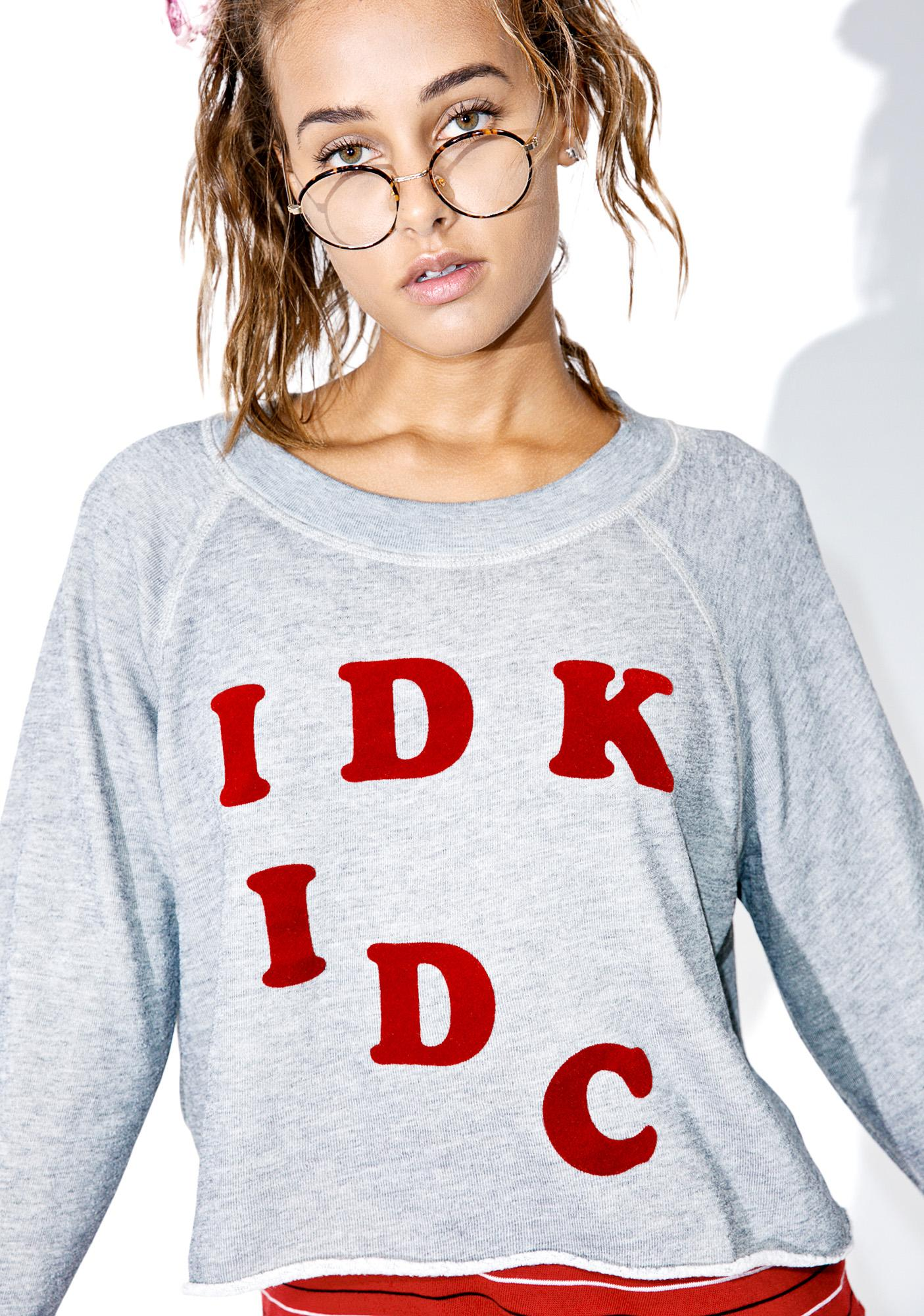 Wildfox Couture IDK-IDC Monte Crop