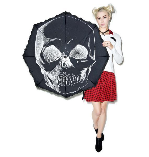 Sourpuss Clothing Anatomical Skull Umbrella