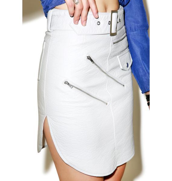 Nightwalker Blanco Outlaw Leather Skirt