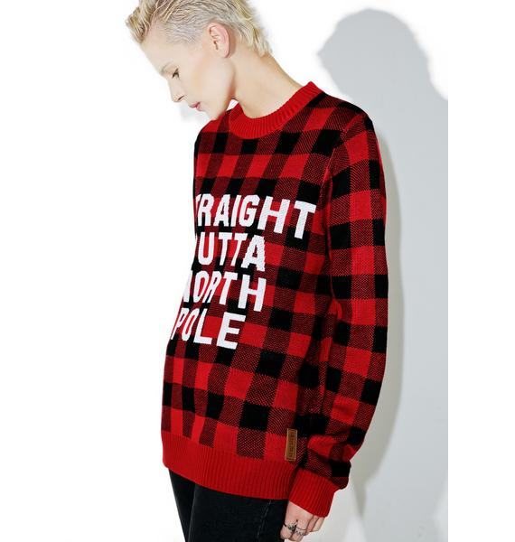 Tipsy Elves Straight Outta North Pole Sweater
