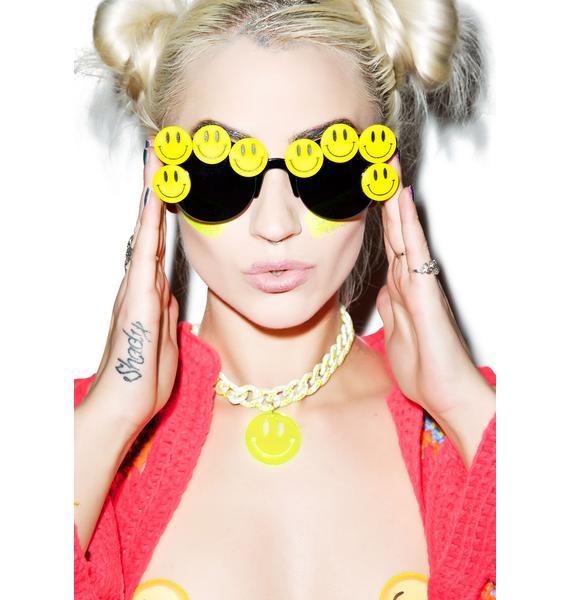 Gasoline Glamour Coco Smiley Sunglasses