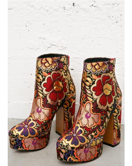 Chanah Embroidered Floral Boots