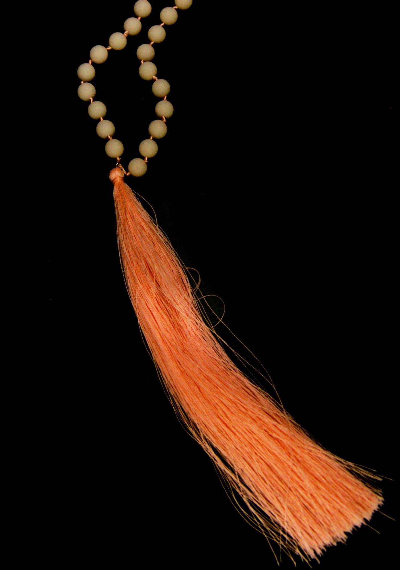 Glow-Up Pink Tassel Necklace