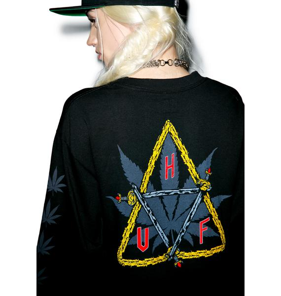 HUF Swords Triple Triangle Long Sleeve T-Shirt