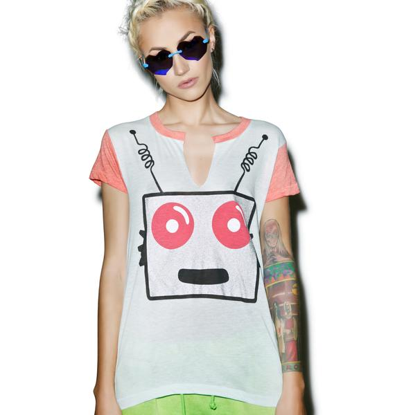 Wildfox Couture Friendly Robot Woody Tee