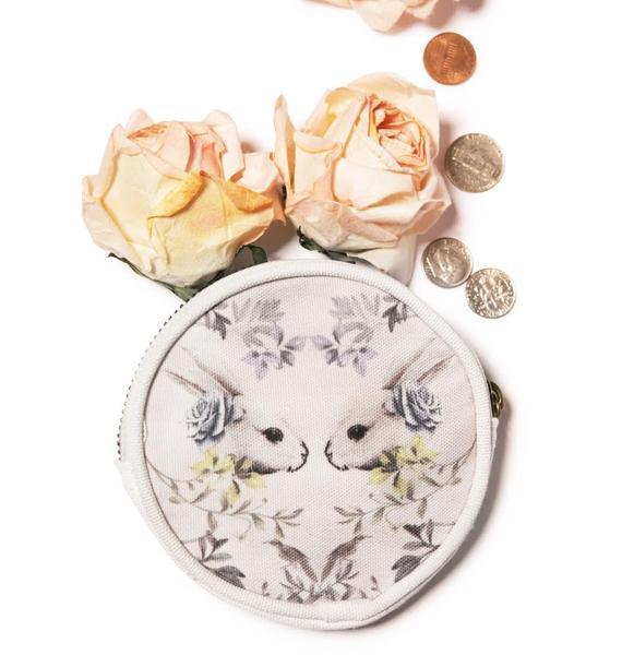 Reflecting Rabbit Coin Purse