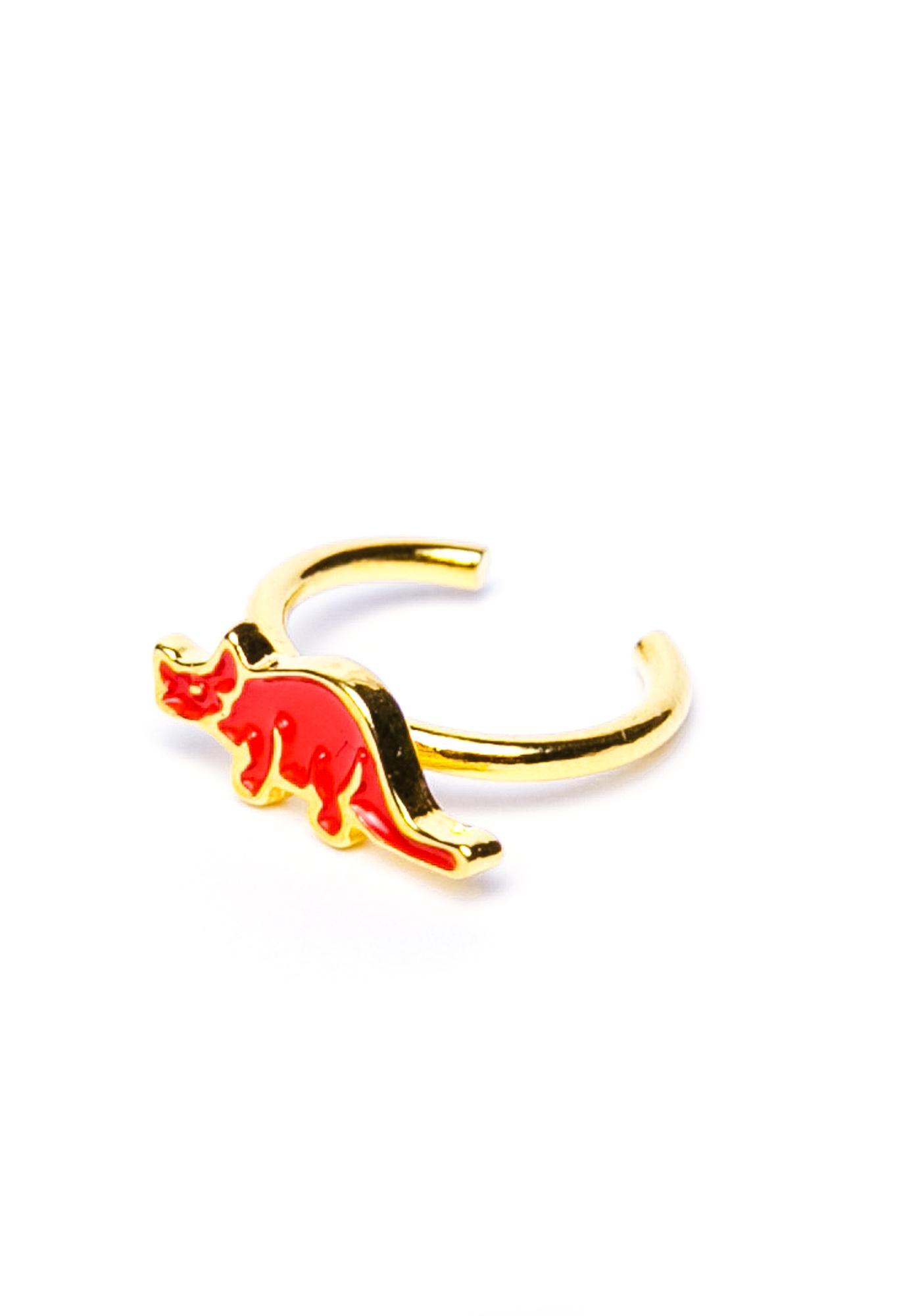 Joyrich x Giza Dinosaur Triceratops Micro Fingertip Ring