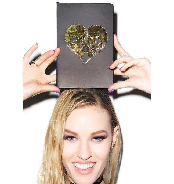 Lauren Moshi Skull Heart Notebook
