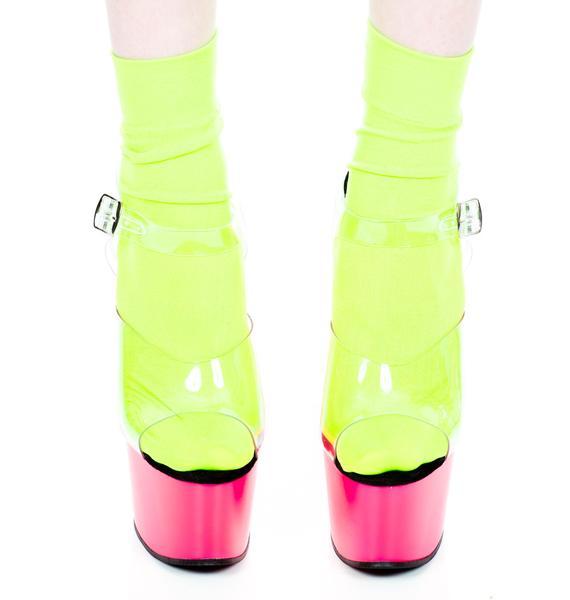 Pleaser USA Adore Neon Platform Sandal
