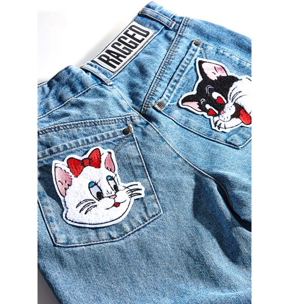 Rosehound Apparel Love Cats Patch Set