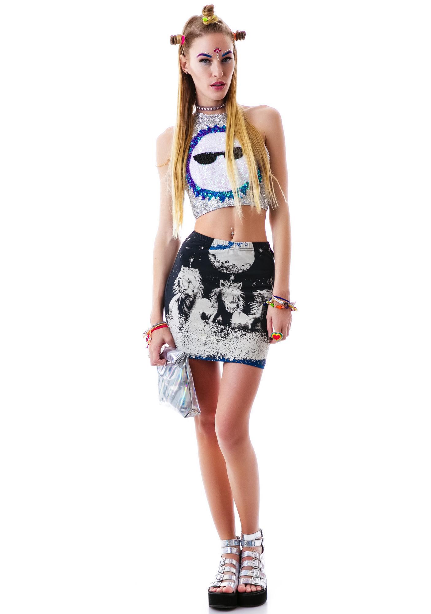 Mink Pink MoonDance Mini Skirt