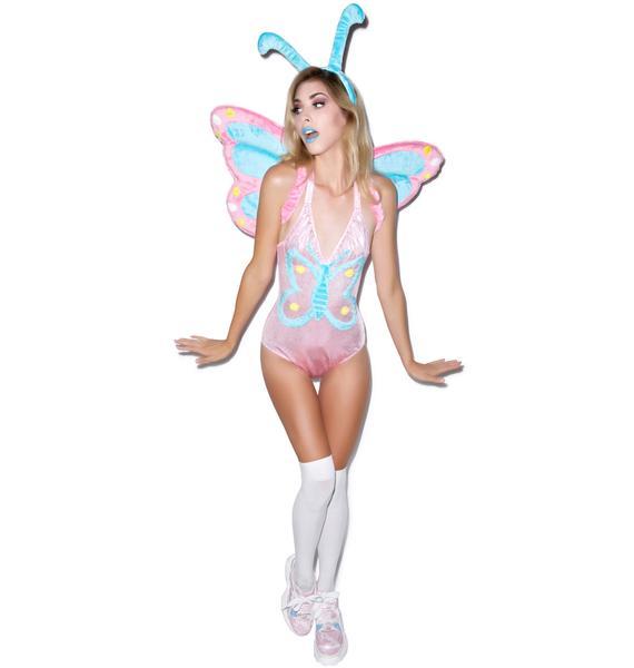 J Valentine Pastel Butterfly Bodysuit