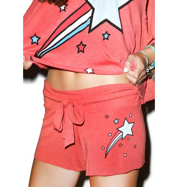 Wildfox Couture Shooting Stripes Cutie Shorts