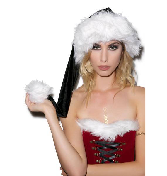 J Valentine Dark Nights Deluxe Santa Hat