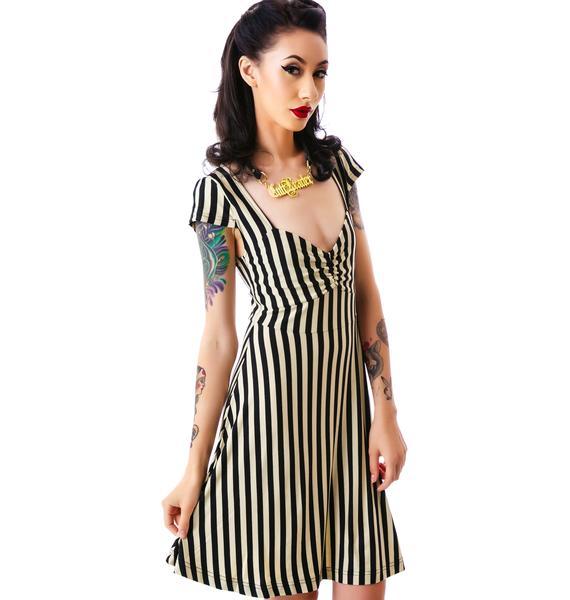 Sourpuss Clothing Vavavoom Stripe Dress