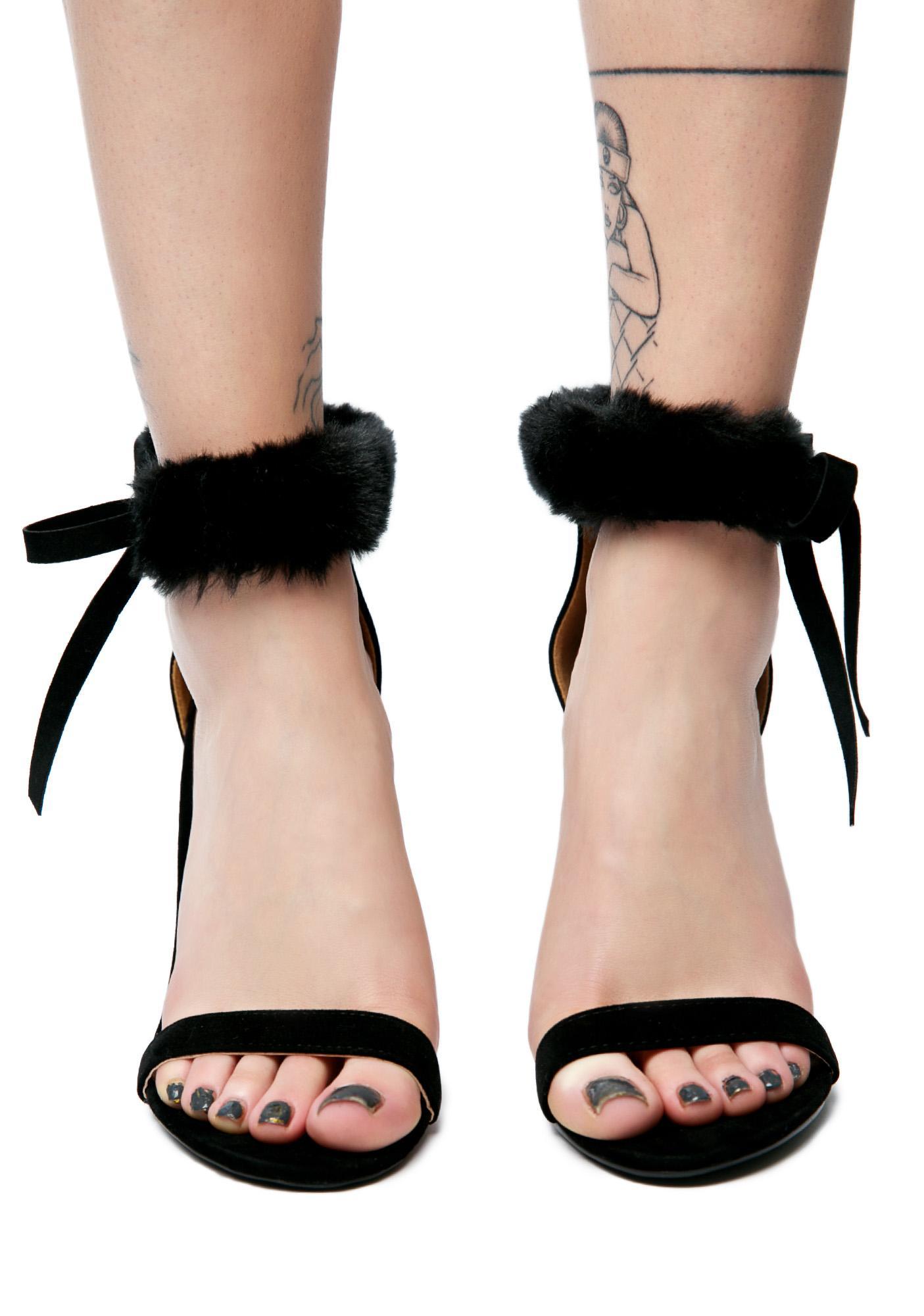 So Risqué Fuzzy Heels