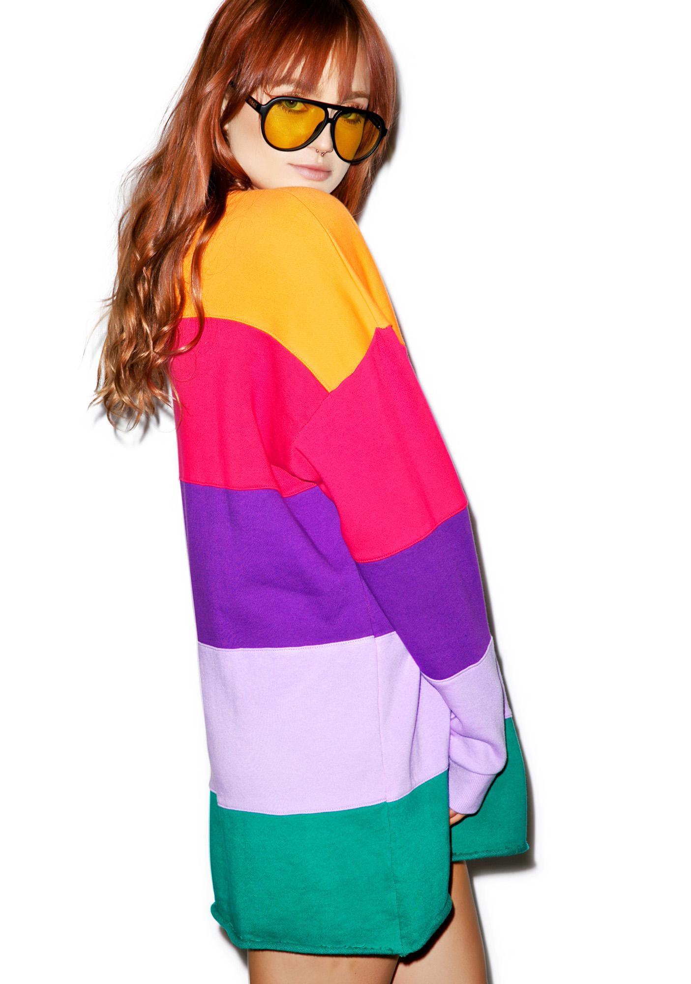 Lazy Oaf Rainbow Stripe Sweater