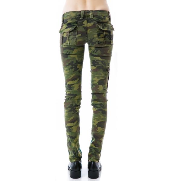 Tripp NYC Denim Camo Split Jeans
