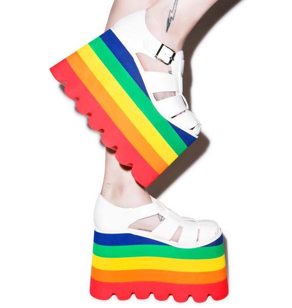 Current Mood Double Rainbow Skylar Sandals