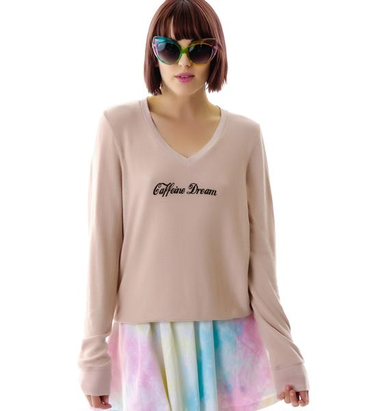 Wildfox Couture Caffeine Dream V-Neck Baggy Beach Jumper