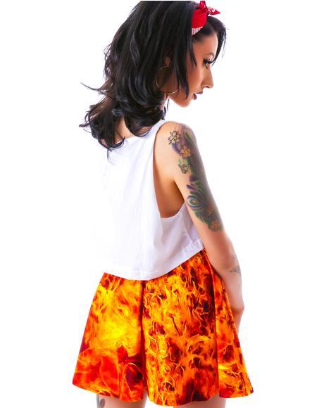 Burning Man Skater Skirt