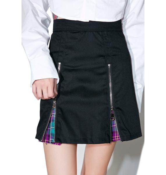 Morph8ne Zip-It Pleated Skirt