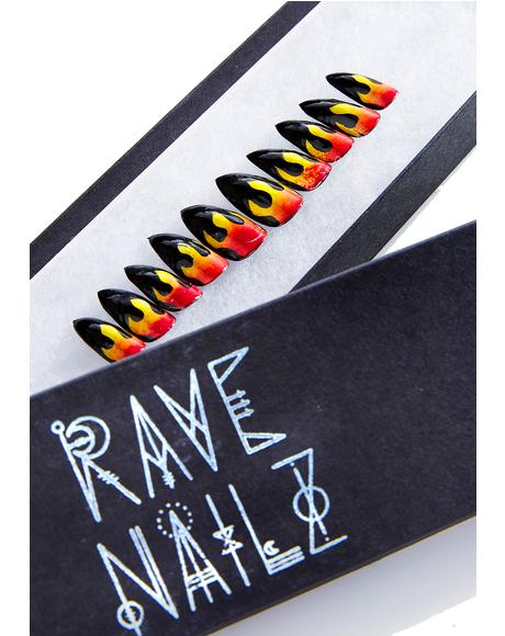 Flame Nail Set